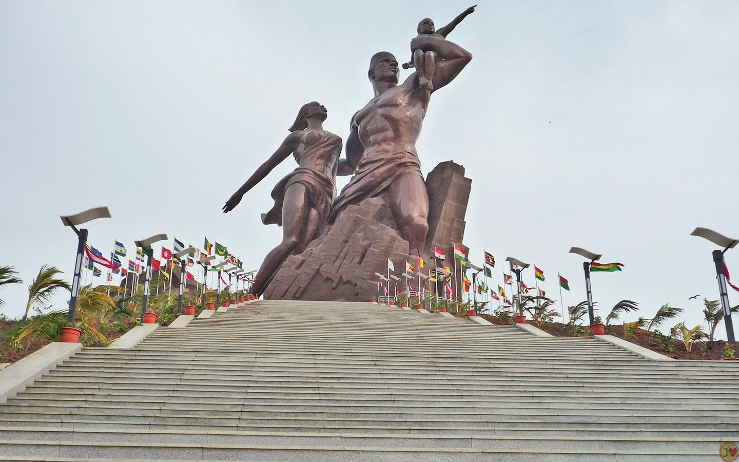 The Monument of the African Renaissance overlooking the beautiful coast of Dakar!